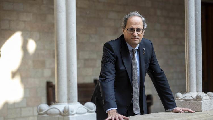 El president del govern, Quim Torra, al Palau de la Generalitat