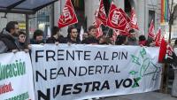 Imatge recent d'una manifestació contra el pin parental, a Madrid