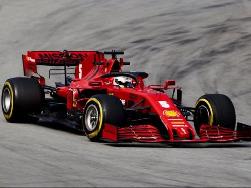 Vettel, al volant del Ferrari SF1000 a Montmeló