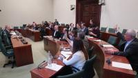 Imatge d'una de les votacions de les comissions, aquest dijous a la cambra catalana