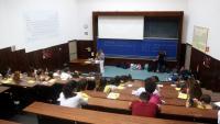 Imatge d'arxiu d'una prova de selectivitat, en una aula de la facultat de Química de la Universitat de Barcelona