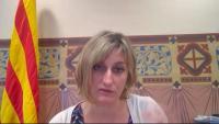 La consellera de Salut, Alba Vergés, durant la compareixença telemàtica dant la comissió de Salut del Parlament
