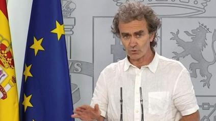 El director del CCAES, Fernando Simón, a la roda de premsa d'aquest dimarts
