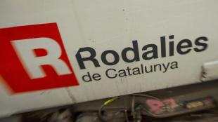 Detall d'un tren de Rodalies