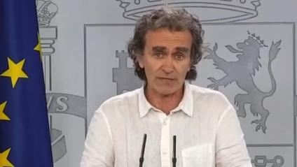 El director del CCAES, Fernando Simón, a la roda de premsa d'aquest divendres