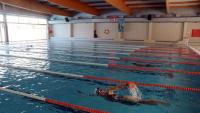 Una nedadora a la piscina municipal de Reus, aquesta setmana