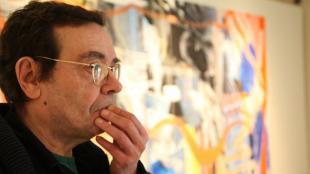 El pintor Xavier Grau, en una imatge de 2014
