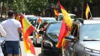 Imatge de la manifestació motoritzada contra el govern espanyol convocada el passat 23 de maig, a Barcelona