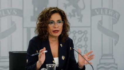 La portaveu del govern espanyol, María Jesús Montero, aquest divendres a la Moncloa