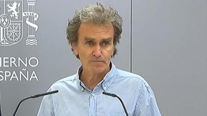 Fernando Simón, director del CCAES, durant la roda de premsa d'aquest dijous
