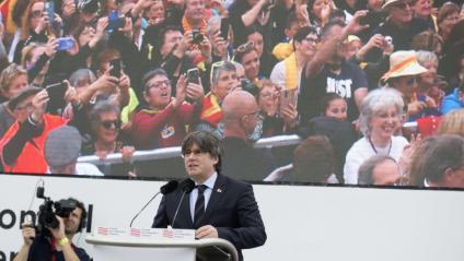 L'expresident de la Generalitat Carles Puigdemont, el 29 de febrer a Perpinyà