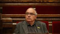 El conseller d'Educació, Josep Bargalló, al seu escó