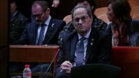 El president de la Generalitat, Quim Torra, durant el judici al TSJC