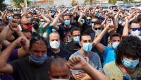 Treballadors de Nissan es manifesten contra el tancament de les plantes catalanes, el passat 30 de juny a Barcelona