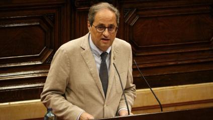 El president de la Generalitat, Quim Torra, aquest dimarts al Parlament