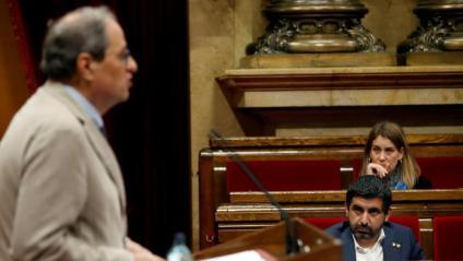 El president de la Generalitat, Quim Torra, durant el ple monogràfic d'aquest dimarts al Parlament