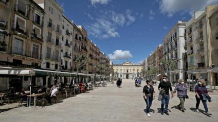 Vista de la plaça de la Font de Tarragona, en una imatge recent
