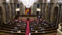 Vista de l'hemicicle del Parlament, aquest dijous a la tarda
