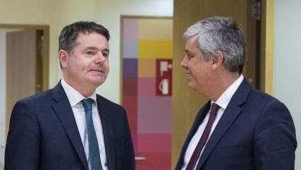 Paschal Donohoe (e) i Mario Centeno (d), en una imatge del passat novembre