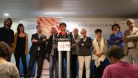 Carles Puigdemont i representants del Consell per la República en una roda de premsa a Brussel·les, el passat 1 d'octubre