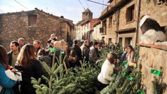 Ambient a Espinelves durant la fira, en una edició anterior