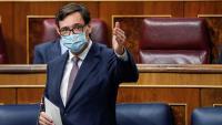 El ministre de Sanitat, Salvador Illa, aquest dimecres al Congrés
