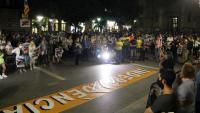 Concentració de suport als encausats per l'operació Judes, aquest dimecres a Sabadell