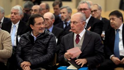Rodrigo Rato en una imatge d'arxiu del judici a l'Audiencia Nacional per la sortida a Borsa de Bankia