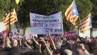 Manifestació a favor del 7 detinguts el 23-S davant els jutjats de Sabadell el 3 d'octubre de 2019