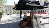 Una terrassa tancada, al centre de Barcelona