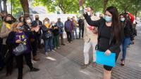 Tamara Carrasco, arribant el passat 28 de setembre a la Ciutat de la Justícia