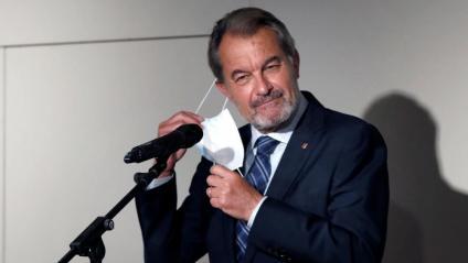 L'expresident de la Generalitat Artur Mas, aquest dimarts al Palau Robert