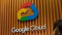 El logo de Google Cloud, en una fira tecnològica a Hong Kong