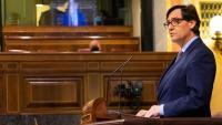El ministre espanyol de Sanitat, Salvado Illa, al ple sobre l'estat d'alarma