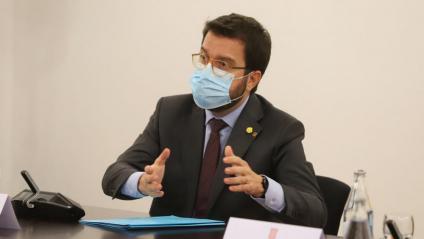 El vicepresident del govern, Pere Aragonès, en una imatge recent