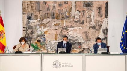 El president del govern espanyol, Pedro Sánchez, president el Consell de Ministres d'aquest diumenge