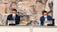 El president del govern espanyol, Pedro Sánchez, i el vicepresident segon, al Consell de Ministres de diumenge