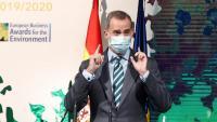 El rei d'Espanya, Felip VI, aquest dimecres al lliurament dels premis  Europeus de Medi Ambient a l'Empresa