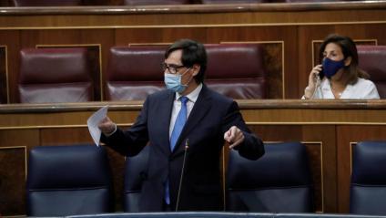 El ministre de Sanitat, Salvador Illa, aquest dijous al Congrés