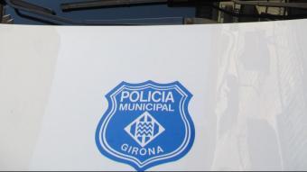 Detall d'un vehicle de la Policia Municipal de Girona