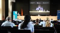 Comissàries i comissaris dels Mossos participen a les primeres jornades sobre la perspectiva de gènere i la igualtat d'oportunitats al cos, aquest dijous al complex d'Egara