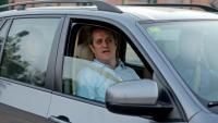 L'exconseller Joaquim Forn, sortint de la presó per anar a treballar, el passat febrer