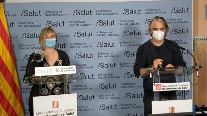 La consellera de Salut, Alba Vergés, i el coordinador de la unitat de seguiment de la Covid-19, Jacobo Mendioroz, en una imatge recent
