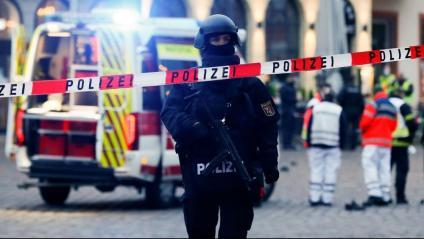 Efectius d'emergències al lloc de l'incident, a Trèveris