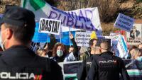 Protesta davant el nou hospital, aquest dimarts a Madrid
