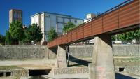 Vista de la passera de la Font del Rei, a Girona