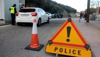 Un control de la policia francesa, al pas fronterer del Pertús