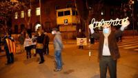 Concentració davant la presó de Wad-Ras, aquest divendres al vespre