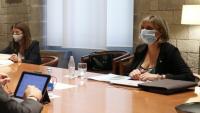 Imatge d'una reunió extraordinària del Procicat al juliol de l'any passat, encapçalada per l'aleshores encara president Quim Torra