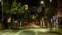 Carrers buits pel toc de queda nocturn, a Girona